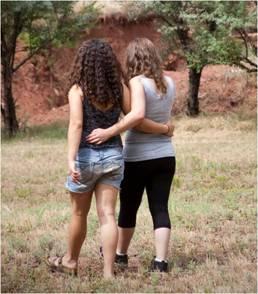 Abigail and Miriam, 2011 camp
