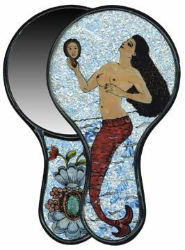 mermaid foil mirror