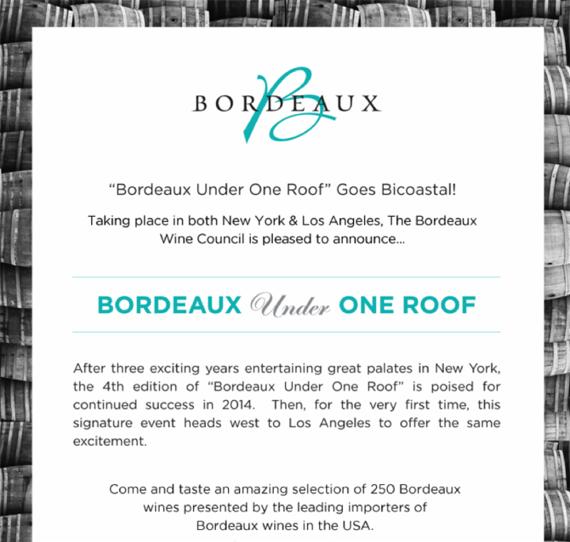 """TONIGHT - """"BORDEAUX under ONE ROOF"""" at W Hollywood new LOFT ..."""