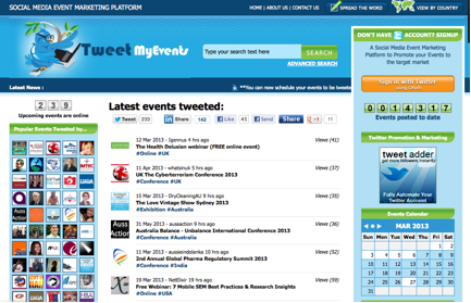 Tweet my events