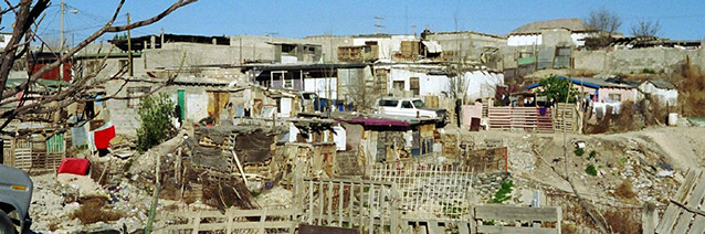 Family homes on former Juarez dump, Juarez Mexico, CAC archives