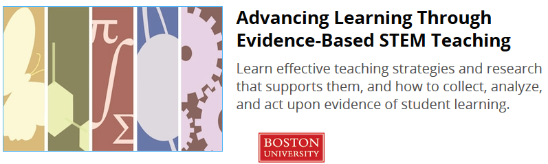 Button to link to learn more about course %22Advancing Learning Through Evidence-Based STEM Teaching%22