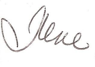 Ilene's Signature cropped