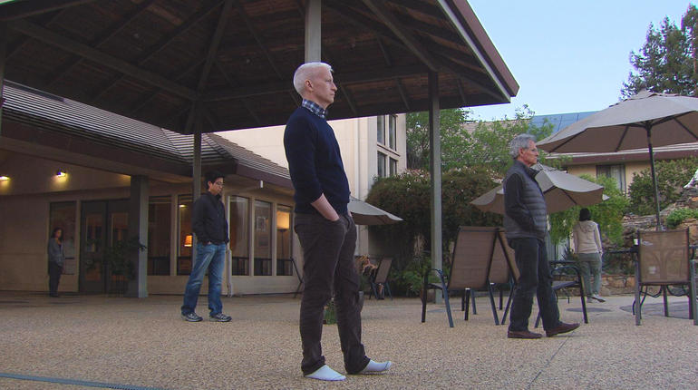 Anderson Cooper walking meditation