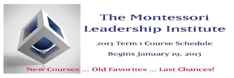 Montessori Leadership Institute Banner