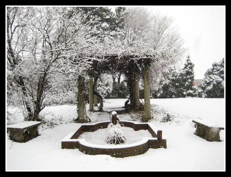 Snowy Wedding Gardens