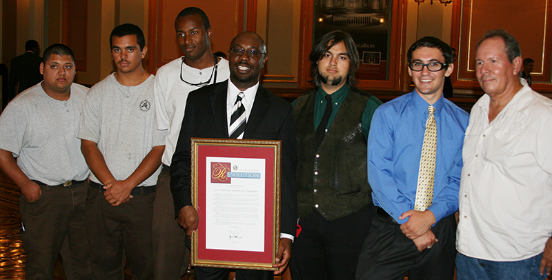 Carpentry students receive recognition for work with Solar Suitcases