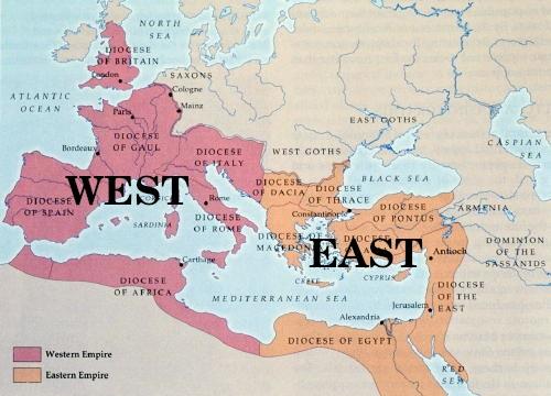 Roman Emp East-West Map