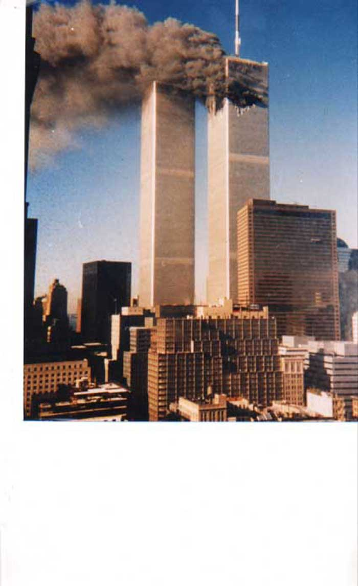 Twin Towers burning