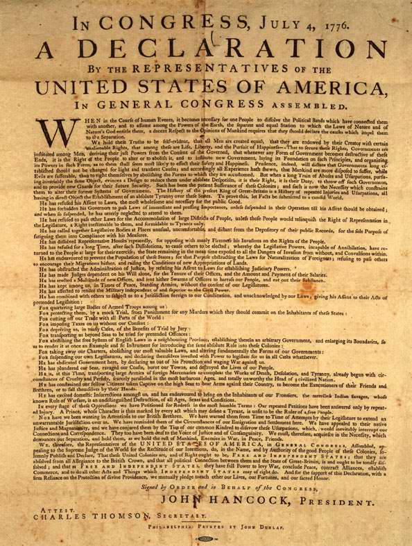 Declaration of Ind 1776
