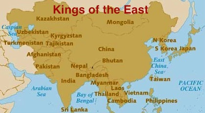 Asia map - kings east