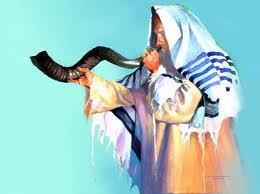 blowing shofar