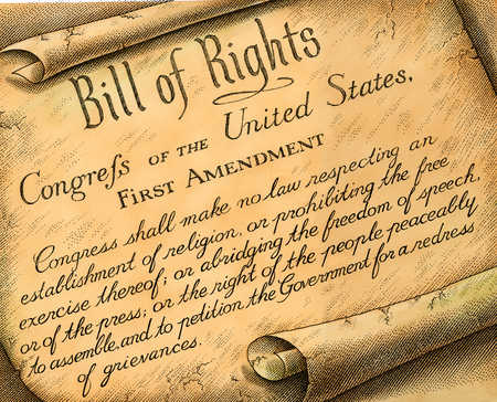 1st admendment- bill of rights