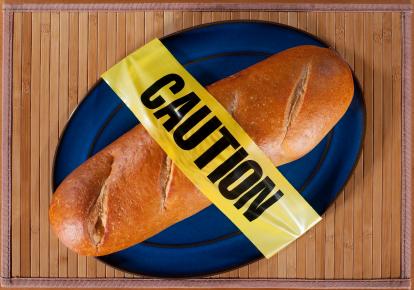 gluten bread caution