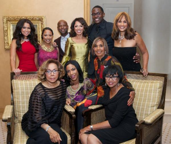 flowers dinner honoring actress diahann carroll and ampas president