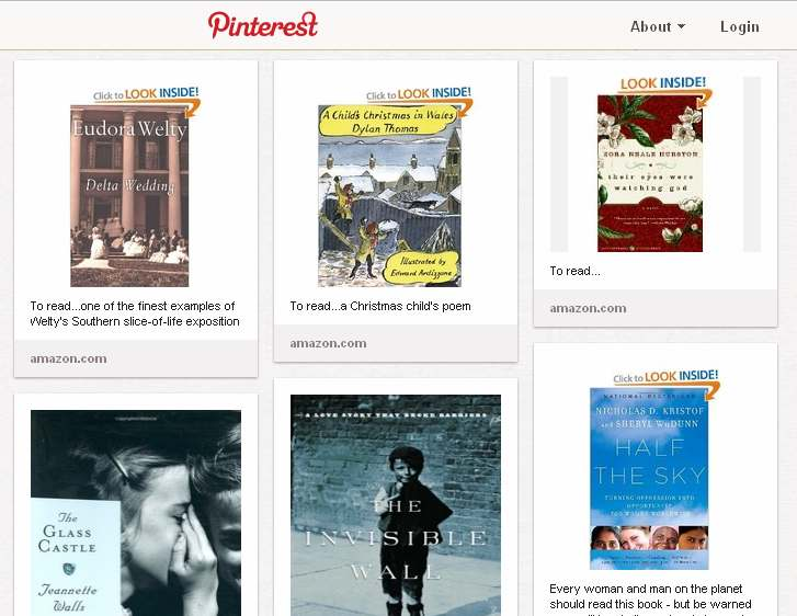 Pinterest Book List