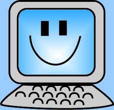 smiling computer drawing