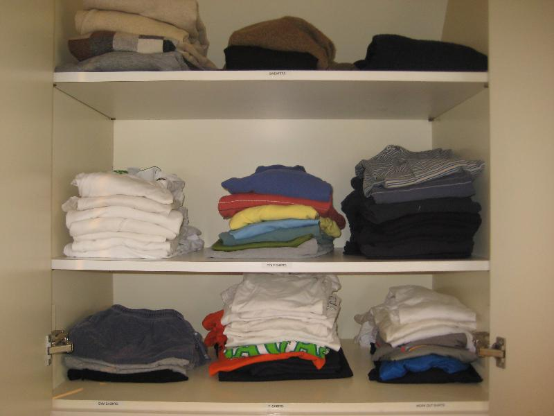 clean clothes cabinet