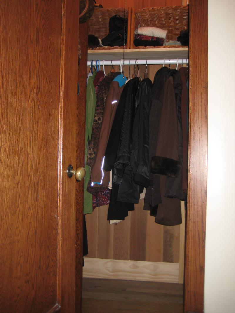 Clean front hall closet
