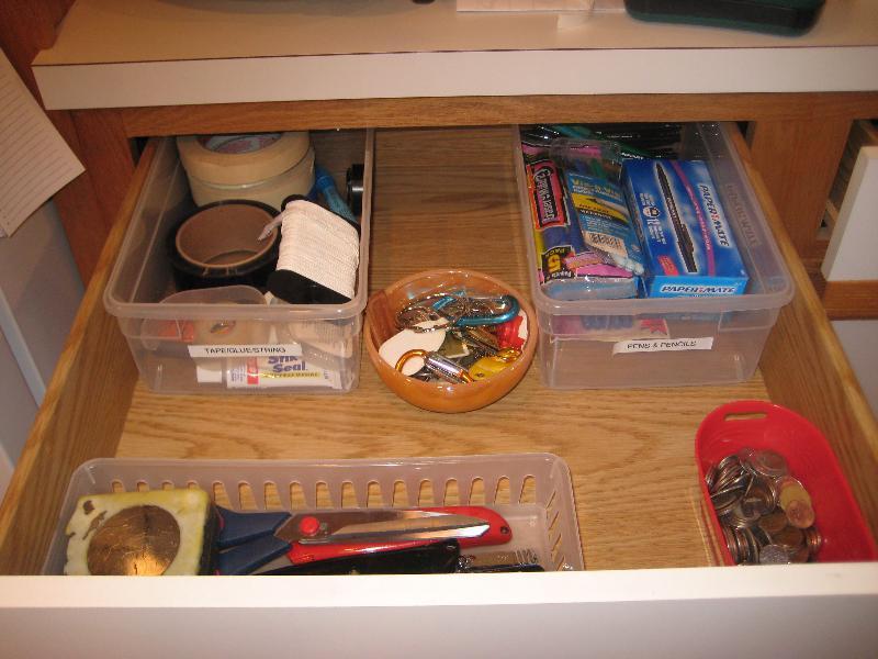 clean junk drawer
