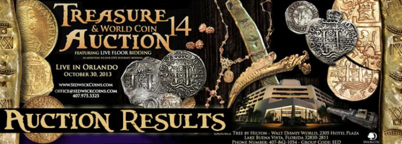 Treasure, World & U.S. Coin Auction #14 October 30, 2013