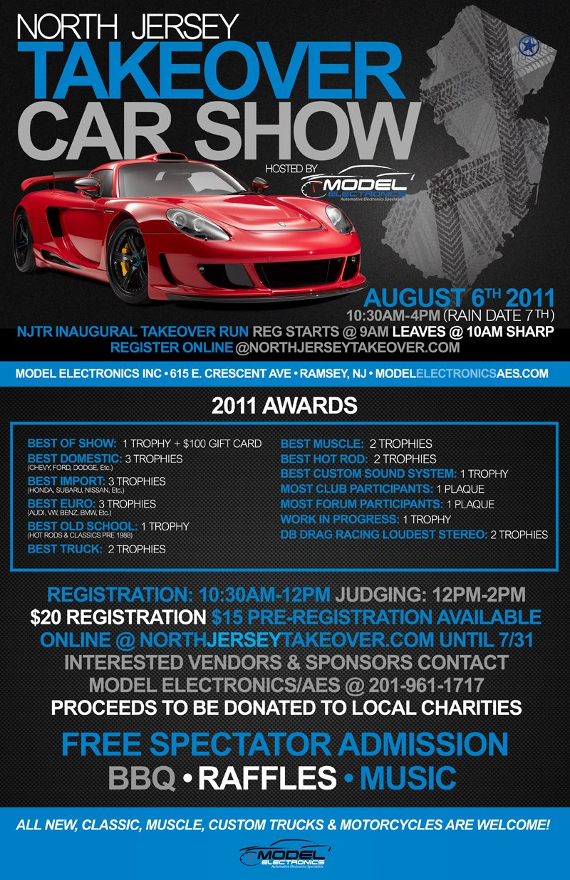 Annual North Jersey Takeover Car Show Hosted By Model Electronics - Car show categories