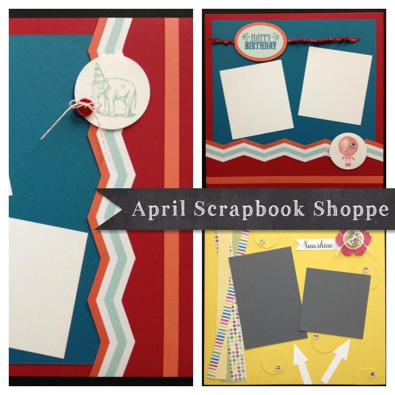 April Scrapbook Shoppe ad