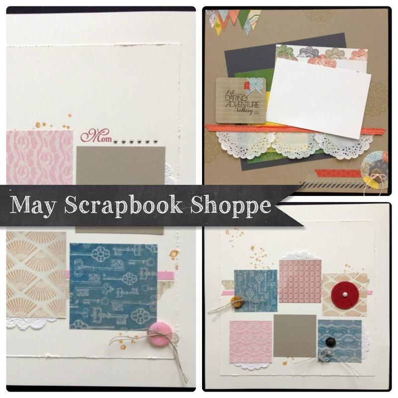May Scrapbooking Shoppe ad