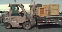 National Guard loading equipment