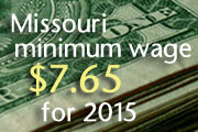 Mo minimum wage $7.65