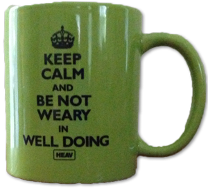 Be Not Weary Mug