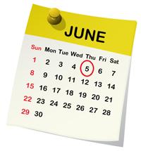 June 5 Calendar