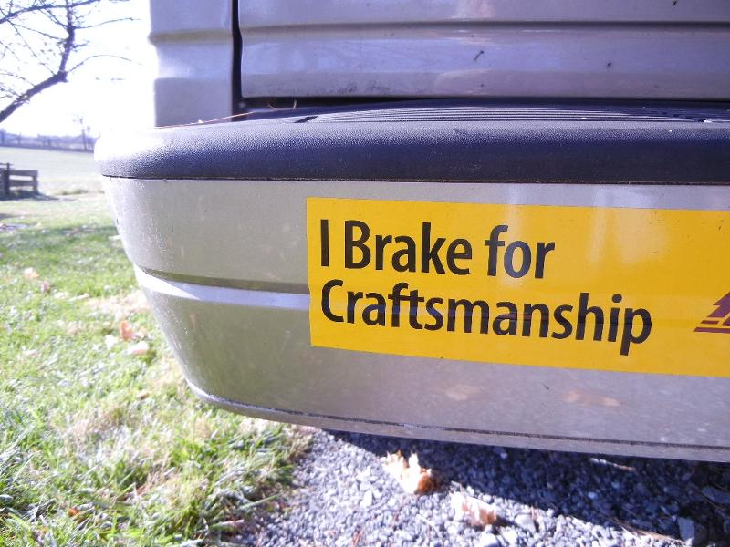 craftsmanship bumpersticker