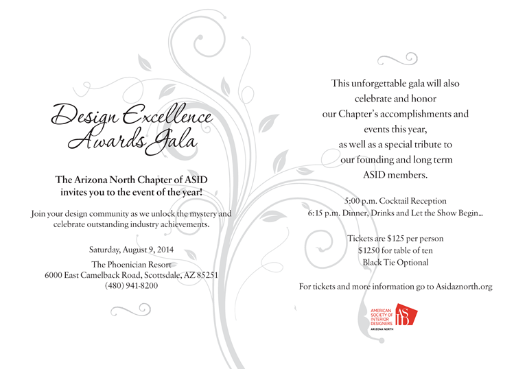 2014 design excellence awards gala no host cash bar complimentary valet stopboris Images