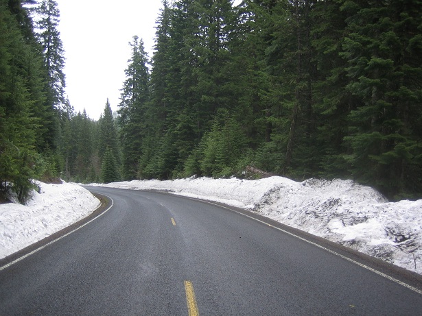 Snow near Bluewood