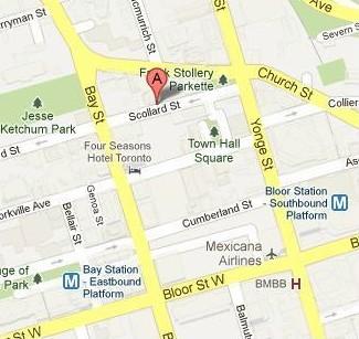 map 40 Scollard Street