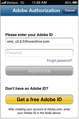eBooks – Adobe Authorization