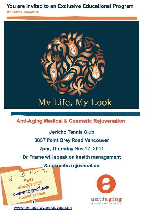 Anti-Aging Medical & Laser Clinic Event - My Life, My Look
