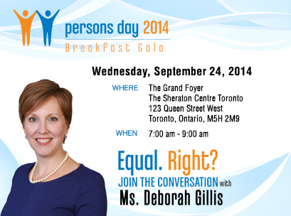 Annual Persons Day Breakfast, September 24, 2014, Toronto