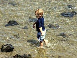 Boy Wading