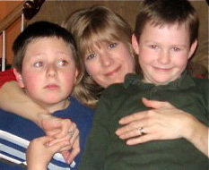 Cheryl and sons