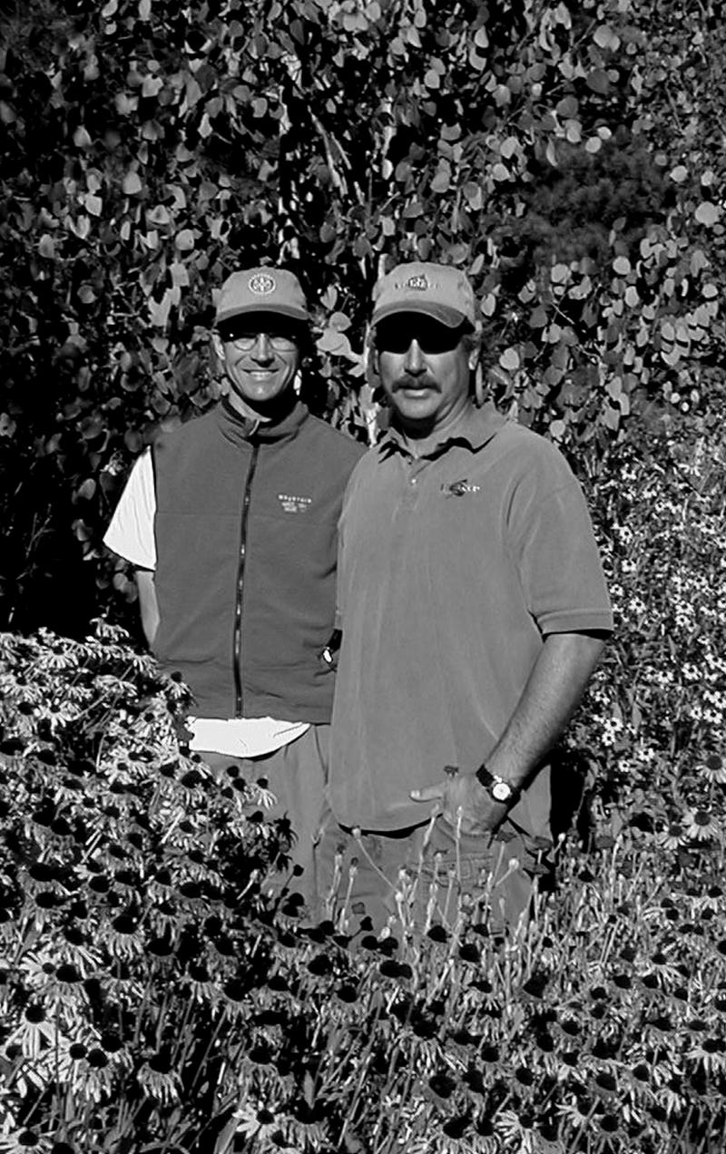 Rob & Eric out standing in their field