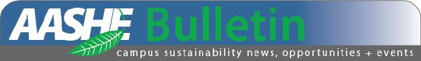 AASHE Bulletin Header