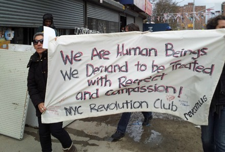 sandy protest