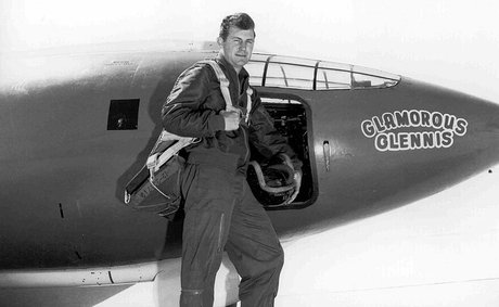 Chuck Yeager with plane