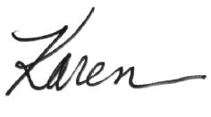 Karen's Signiture