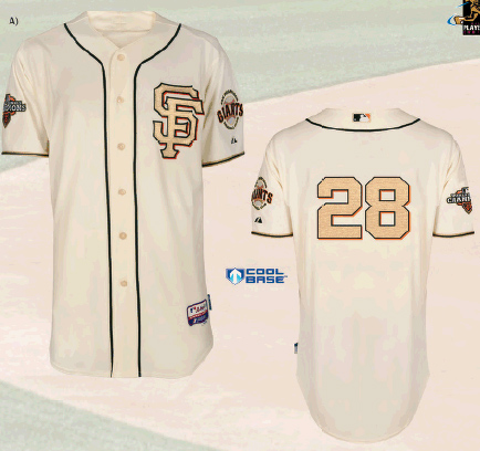 980f8d214e2 Special SF Giants Gold Jersey for WS Ring Ceremony 2013
