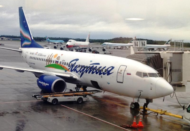 Yakutia Air's plane in ANC