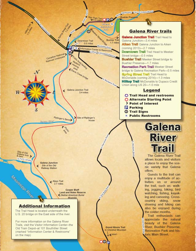 Galena River Trail Map