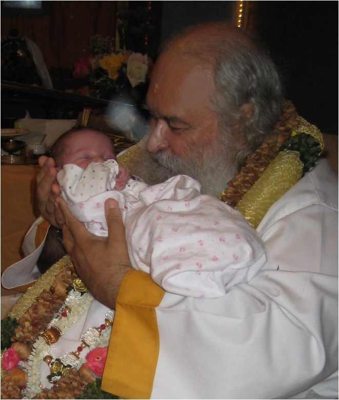 Guruji and Babay Ruby at Guru Poornima July 2009